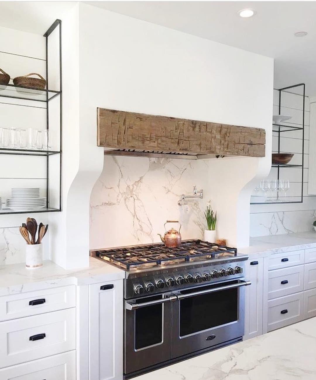 Best Kitchen Gallery: 15 Kitchen Range Hoods That Made A Kitchen Look So Much Prettier of White Farmhouse Kitchen Hood Designs on rachelxblog.com