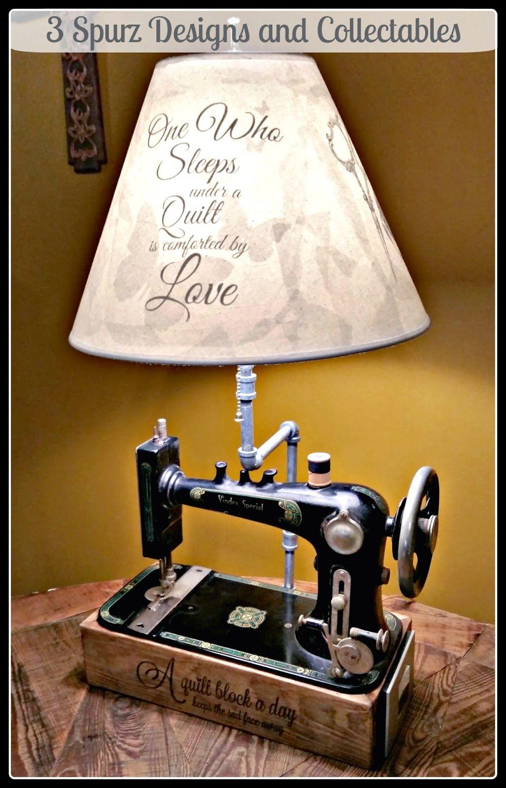 Maquina de coser hecha lmpara  maquina de coser