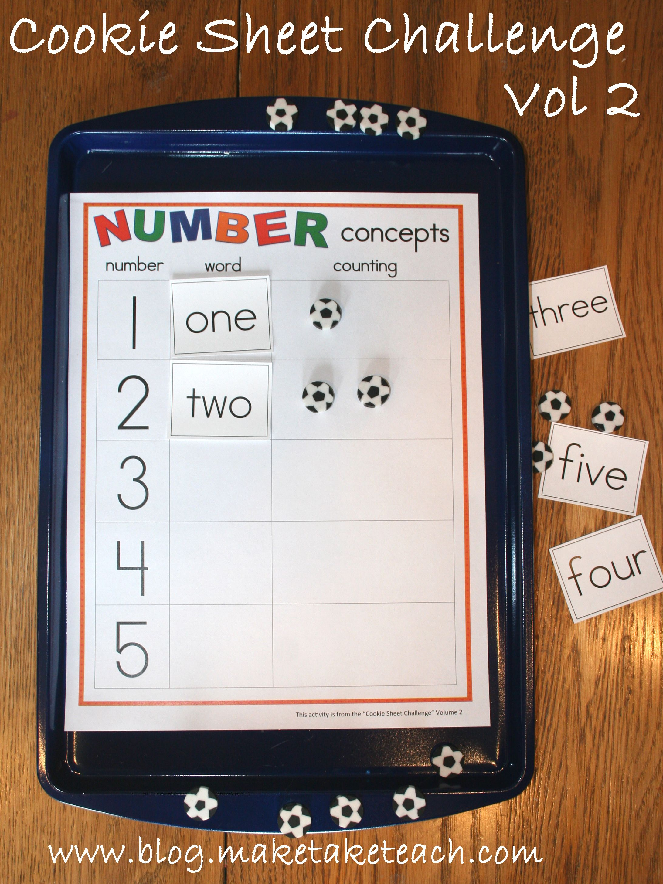 Cookie Sheet Challenge Number Concepts