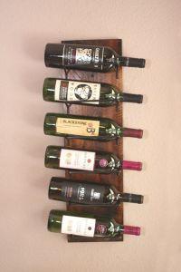 Rustic Wine Rack, Vertical Wood Wall Wine Display | Wine ...