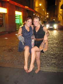 Laughing Barefoot Girls