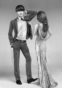 Bts Black & White Suits - Fanart