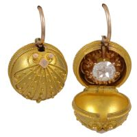 Victorian Coach Earrings with original Diamond studs and ...