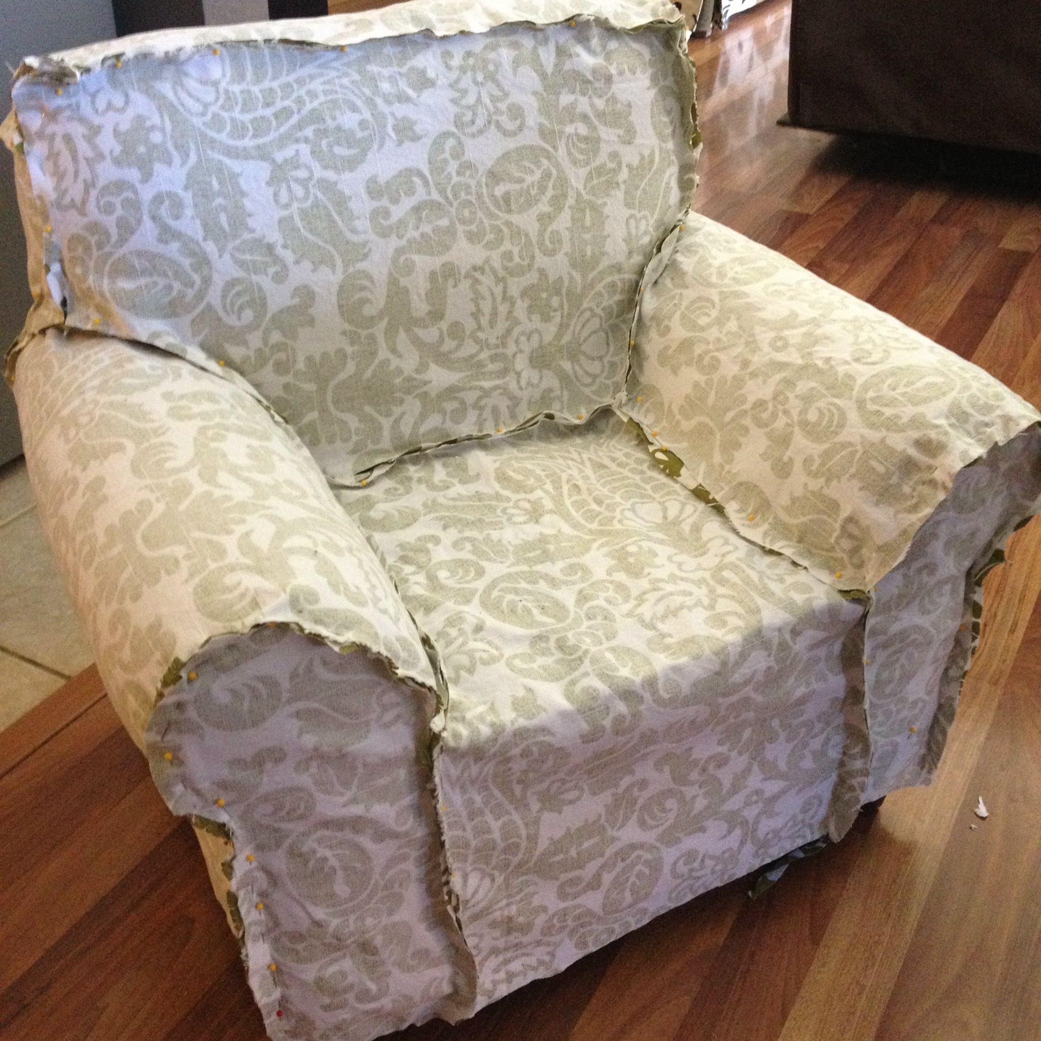 how to make a slipcover for sofa chair rustic sofas canada pattern cover bed using easy