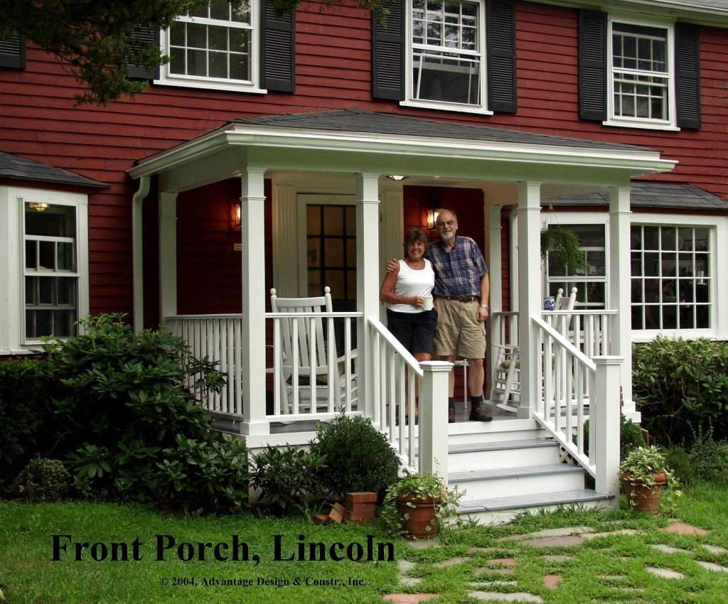 Here's A Traditional Porch On The Front Of A Classic New England