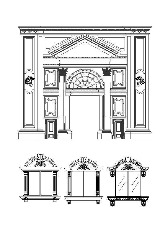 Neoclassical Design,Column Design Ideas,Column Details