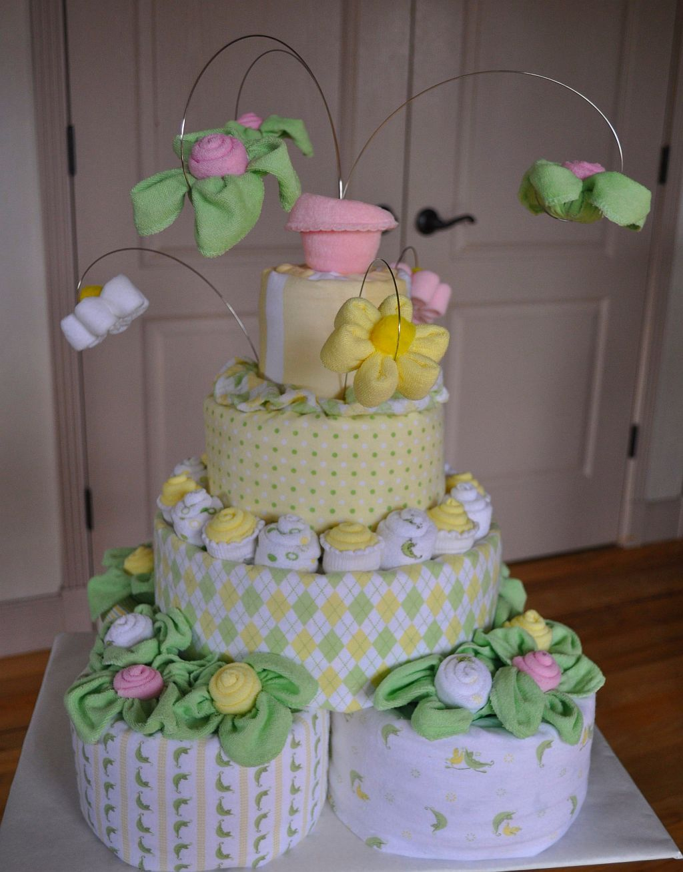 Baby Shower Diaper Cake Instructions