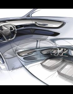 The first design sketches of audi concept  show car that previews next  segment model among features are electric powertrain and also interior sketch google search rh pinterest