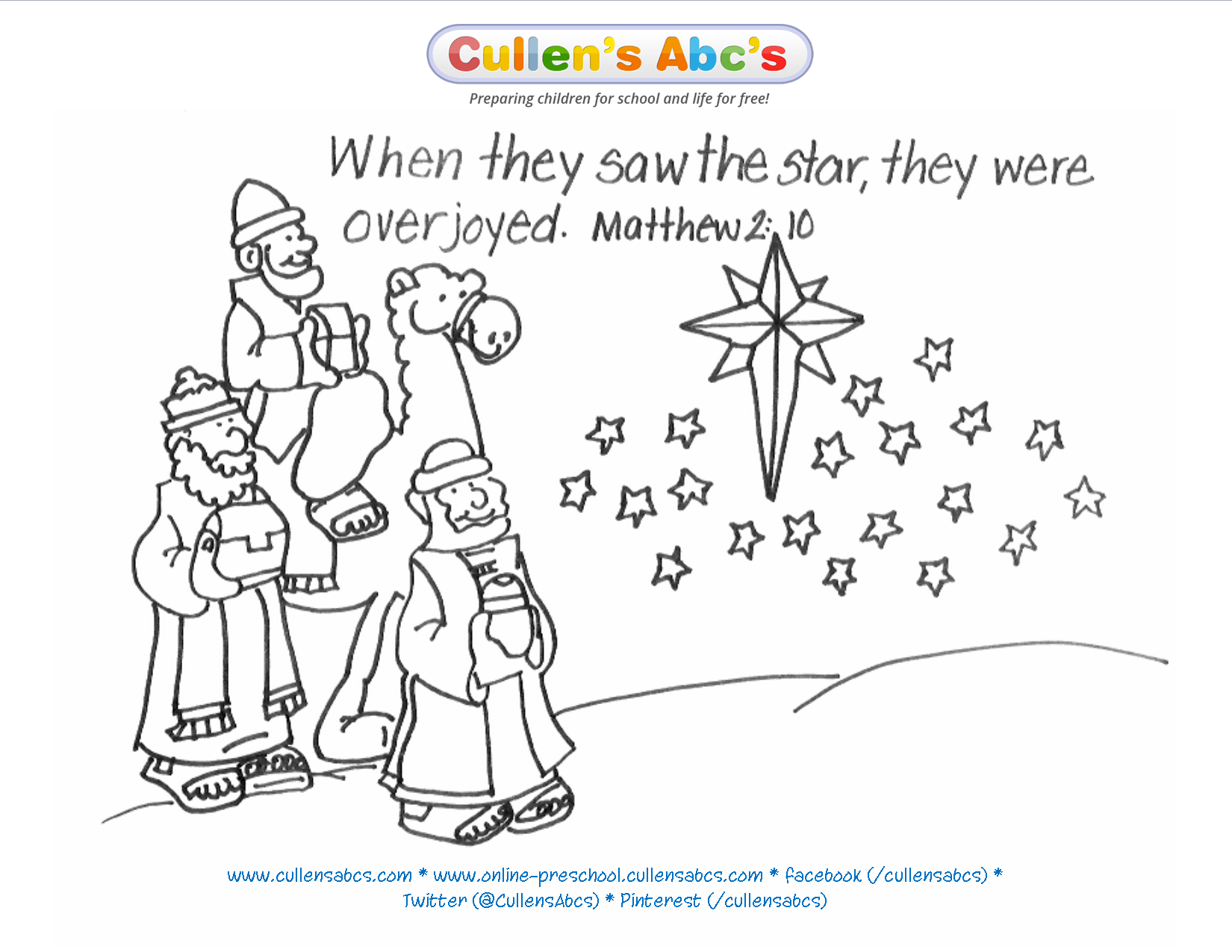 Epiphany Bible Memory Verse Coloring Page For A Complete