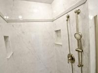 Cultured Marble Shower Walls with Cubby