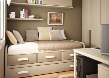 25+ inspirasi keren dekorasi kamar tidur ukuran kecil