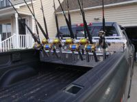 truck bed toolbox rod rack