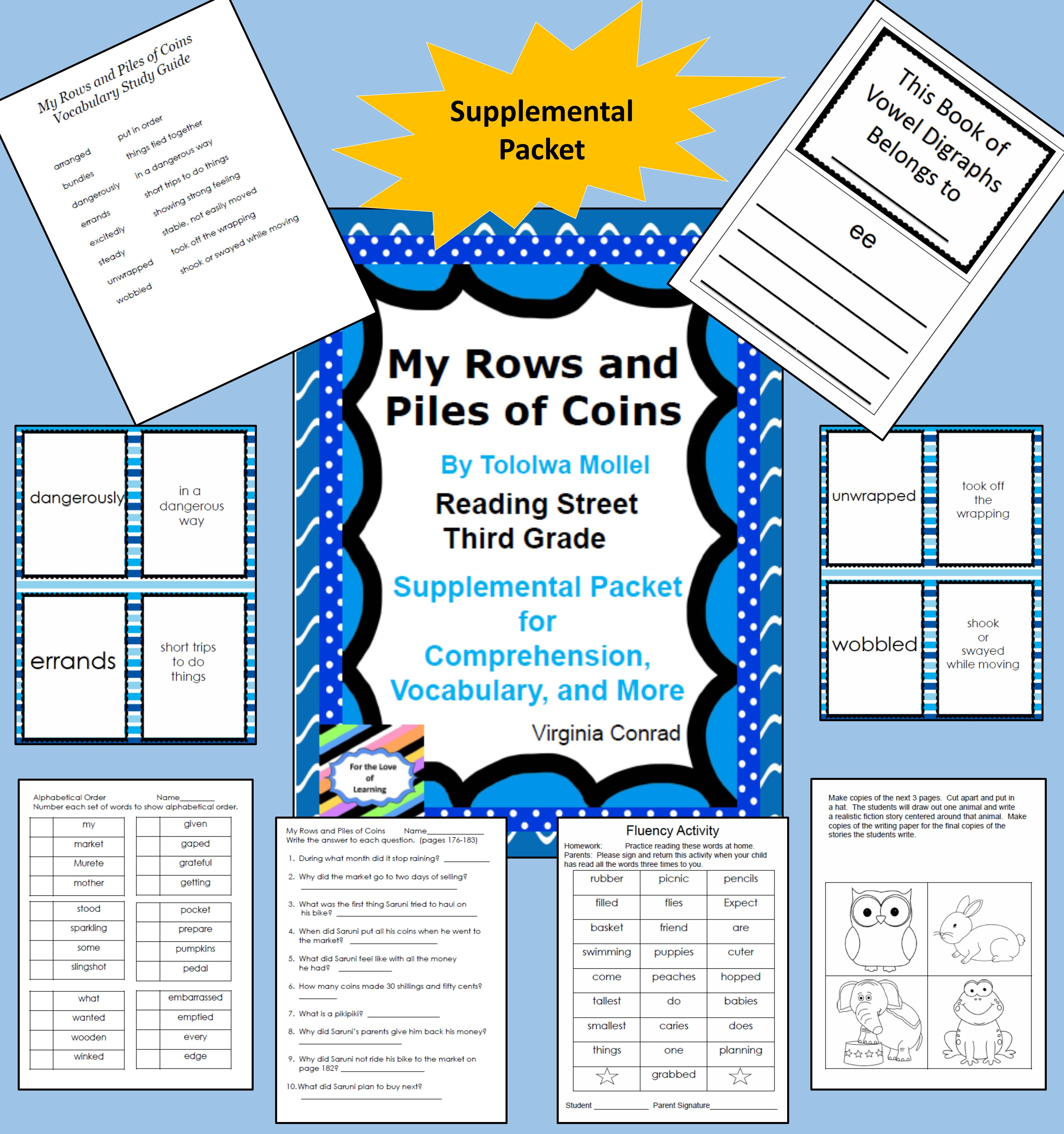 My Rows And Piles Of Coins Reading Street Supplemental Packet