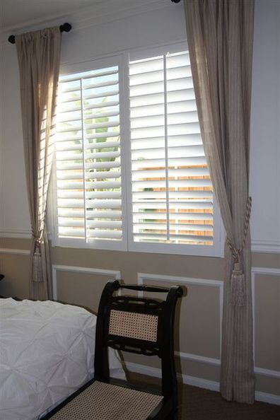 Plantation Shutters And Curtains Decorating Pinterest Silk