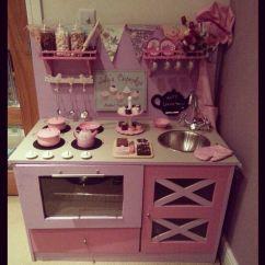 Kids Play Kitchen Accessories Designer Diy Toy Girlie Pink Lilac Fun