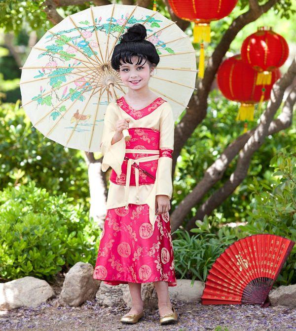 Kimono Princess Child Costume Mulan Themed Birthday