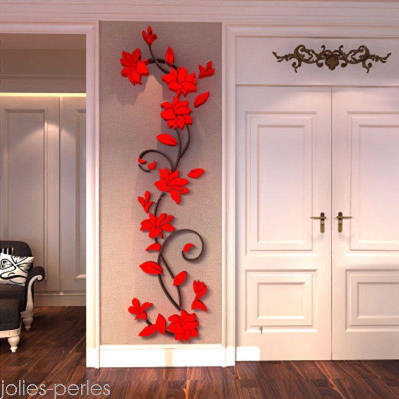 Flower hot us stock  room decor diy wall also sticker removable acrylic rh pinterest
