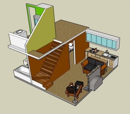 Google Sketchup 3D Tiny House Designs Maisons Petites
