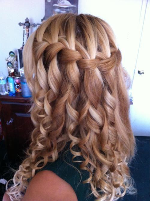 Brautjungfer Frisuren Für Langes Haar 2015 Frisuren Pinterest