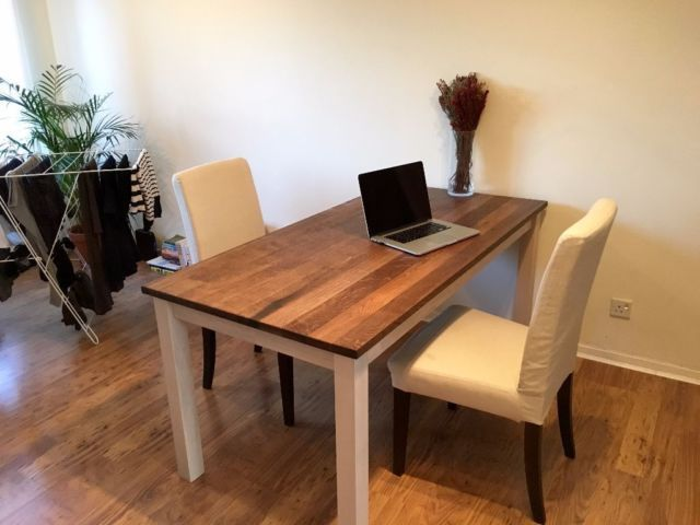Solid Oak Dining Table And Chairs For £200 On Gumtree. We