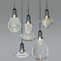Modern vintage industrial glass led retro ceiling light ...