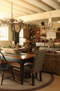 I am so lovin' the look and feel of this country kitchen ...