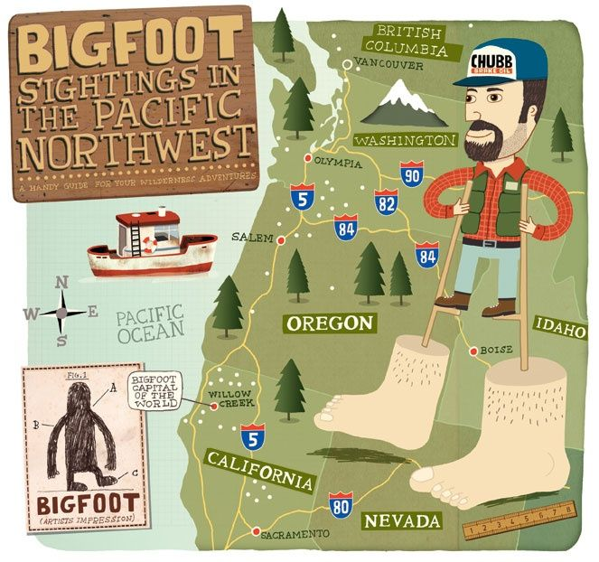 Map Sasquatch Sightings Oregon