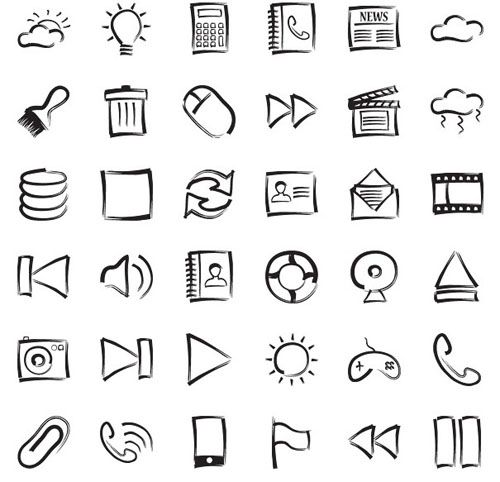 Ultimate Collection of Free Hand Drawn Icons:27 Excellent