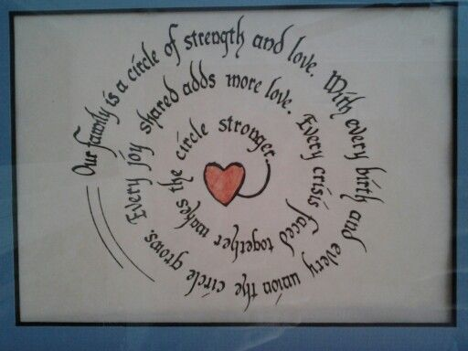 Download Our family is a circle of strength and love. With every ...