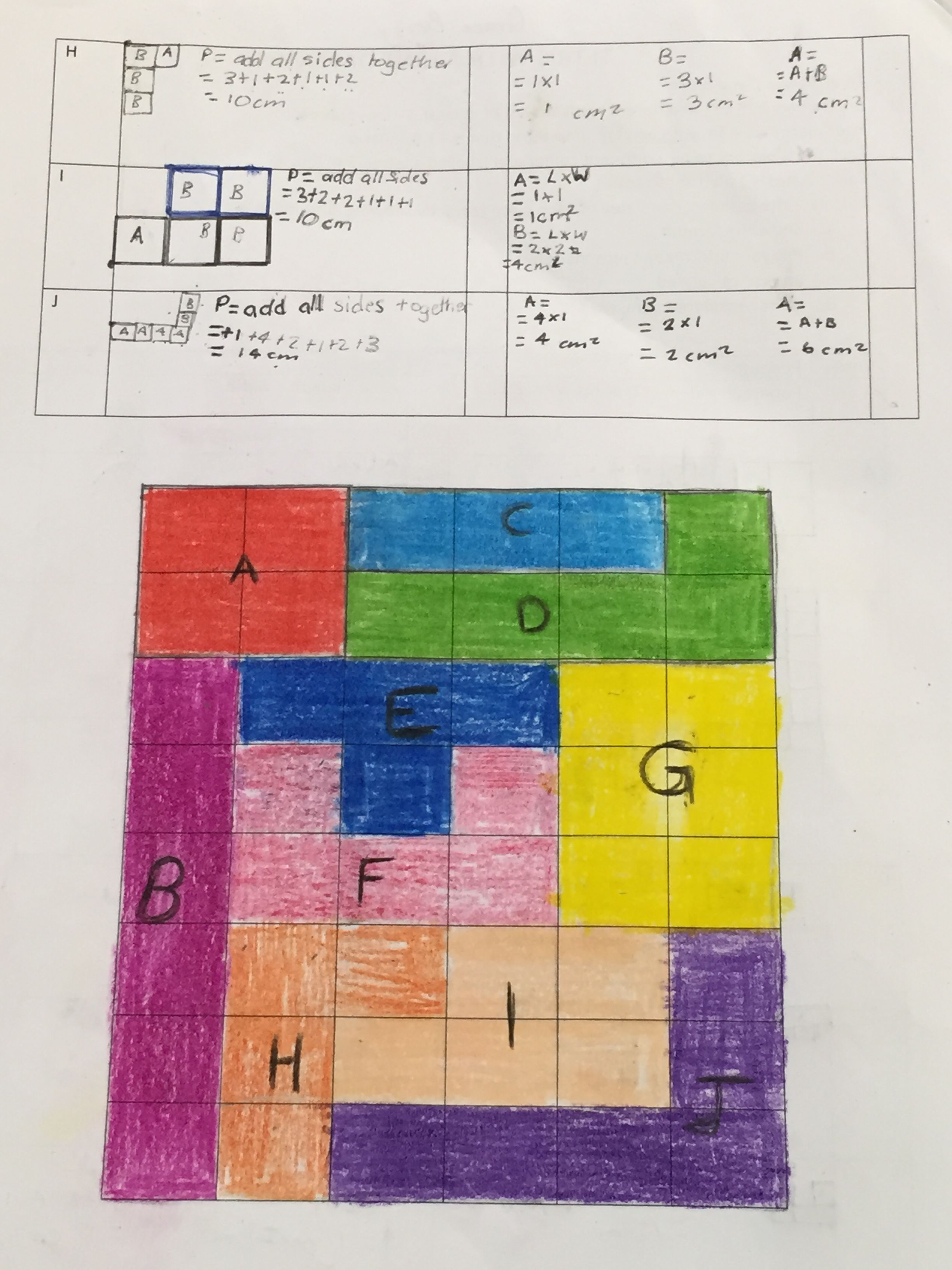 Tetris With A Hint Of Maths Perimeter And Area