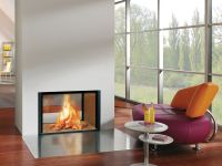 Free-Standing Contemporary Electric Fireplace ...