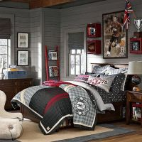 Teenage Boys Room Ideas with Manchester United Bedding