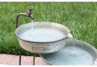 Tiered Garden Fountain, Garden Fountain, Metal Fountain ...