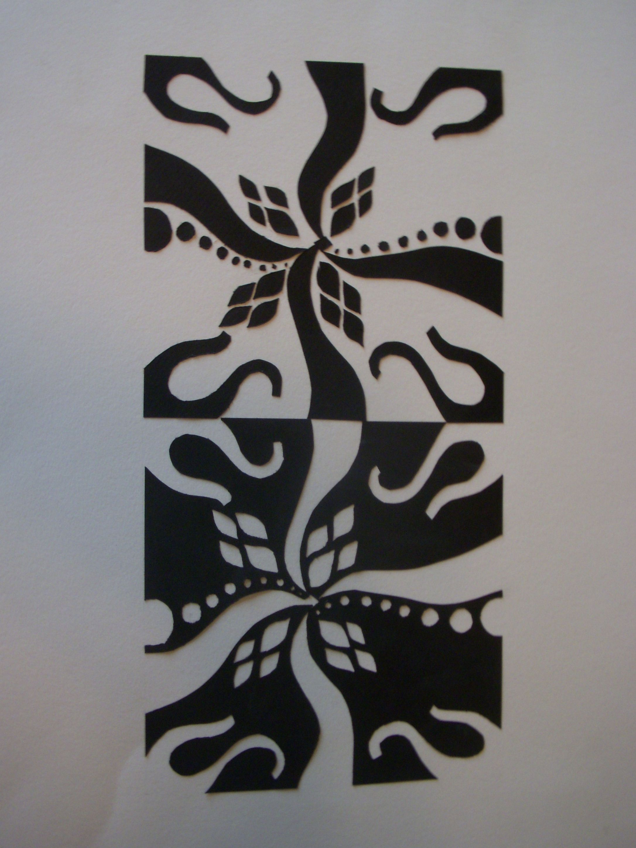 Mirror Image 2d Design Paper Carved