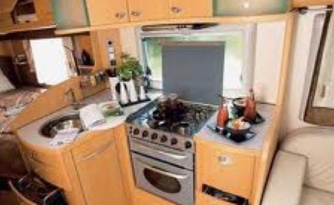 Interior Of A European Rv This Stove Is Perfect But The