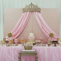 Princess Glam Baby Shower Party Ideas | Princess baby ...