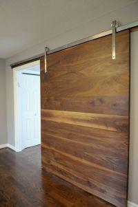 Walnut slab barn door | 1925Workbench Custom doors and ...