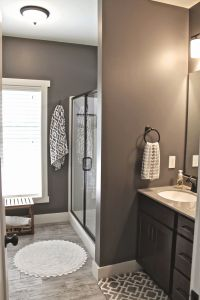 Master Bath Wall Art { -- Faux wood ceramic tile. Walls ...