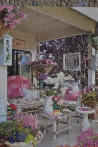 Shabby chic garden porch