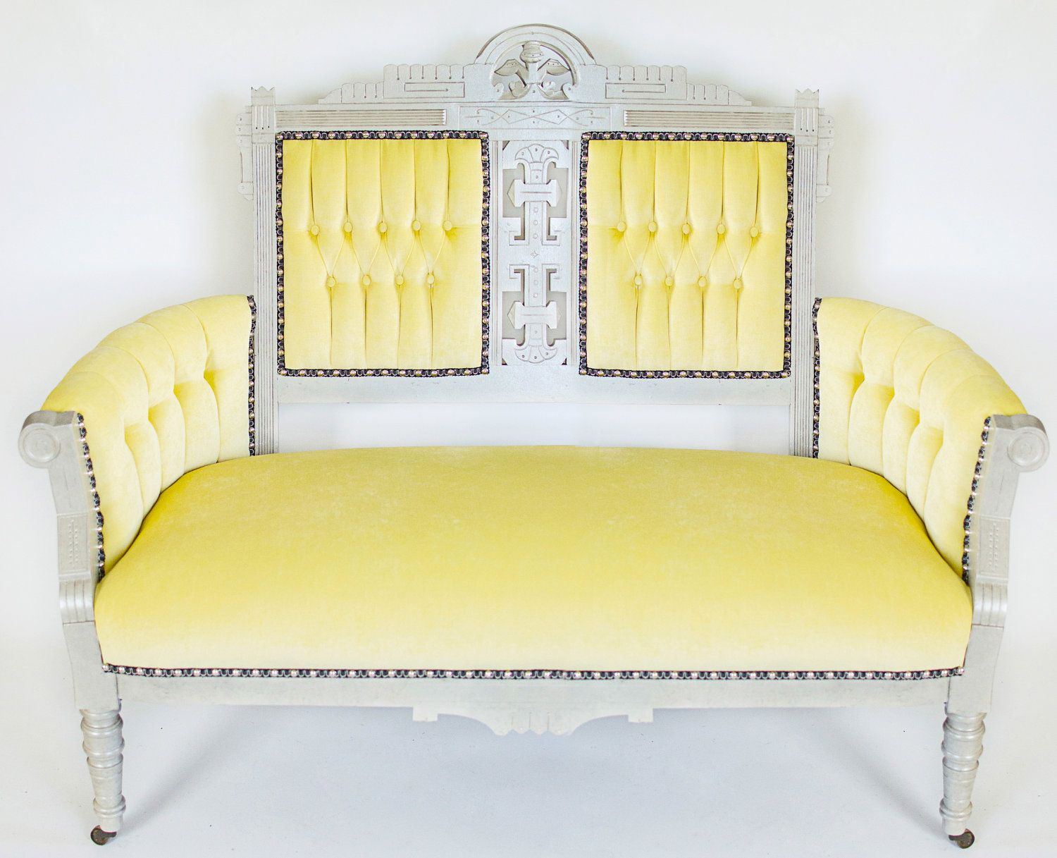 tufted yellow chair zero gravity lounge chairs upholstered furniture