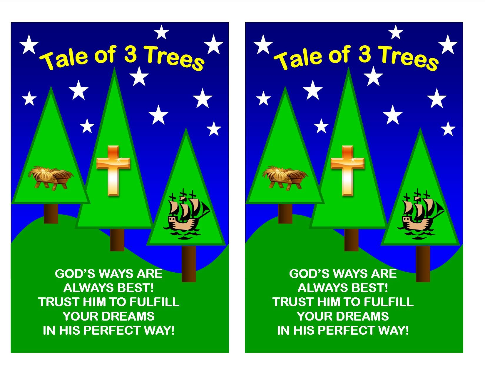Tale Of Three Trees Take Home Sheet