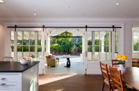 Sliding French Doors Interior Entry Farmhouse With Back ...
