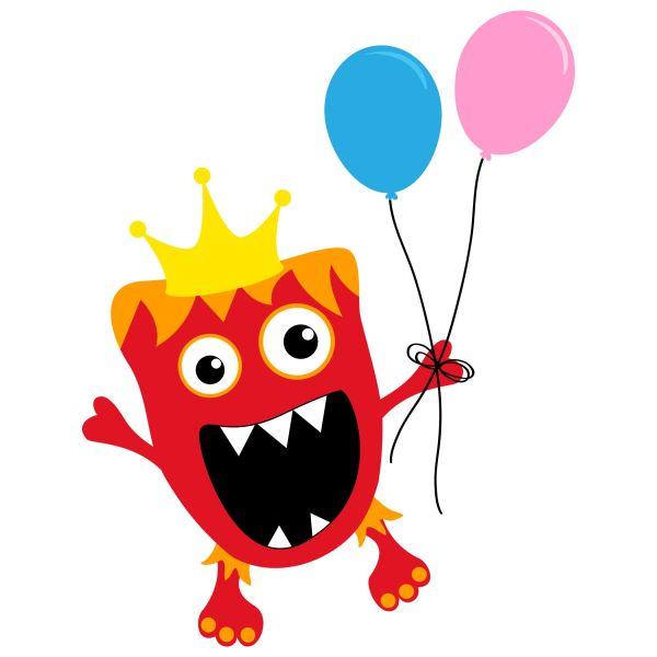 Monster Birthday Party Clip Art