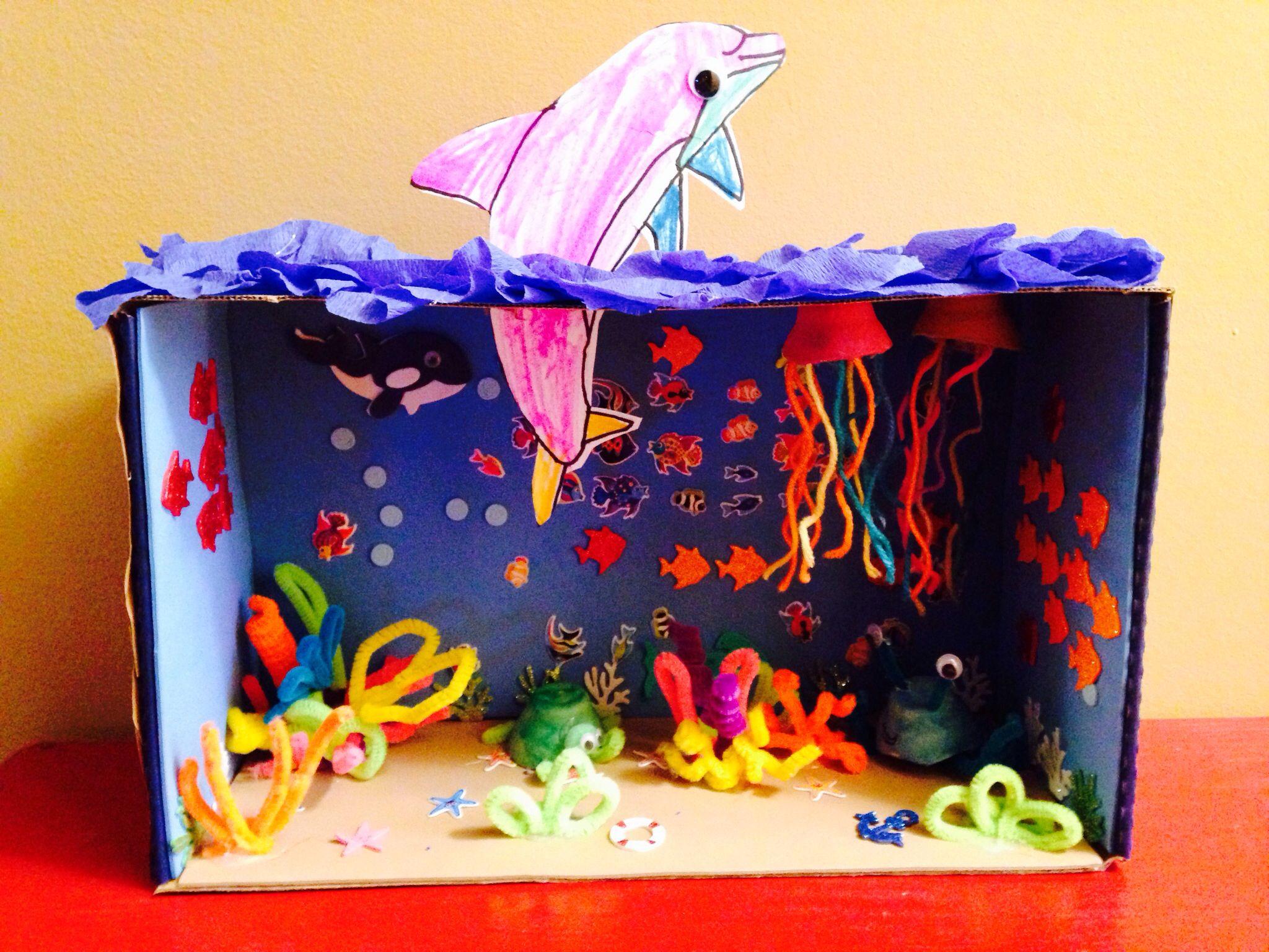 Ocean Habitat Shoebox Diorama 1st Grade Assignment