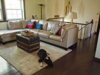 After: Raised Ranch Living Room Renovation. Behr Morning