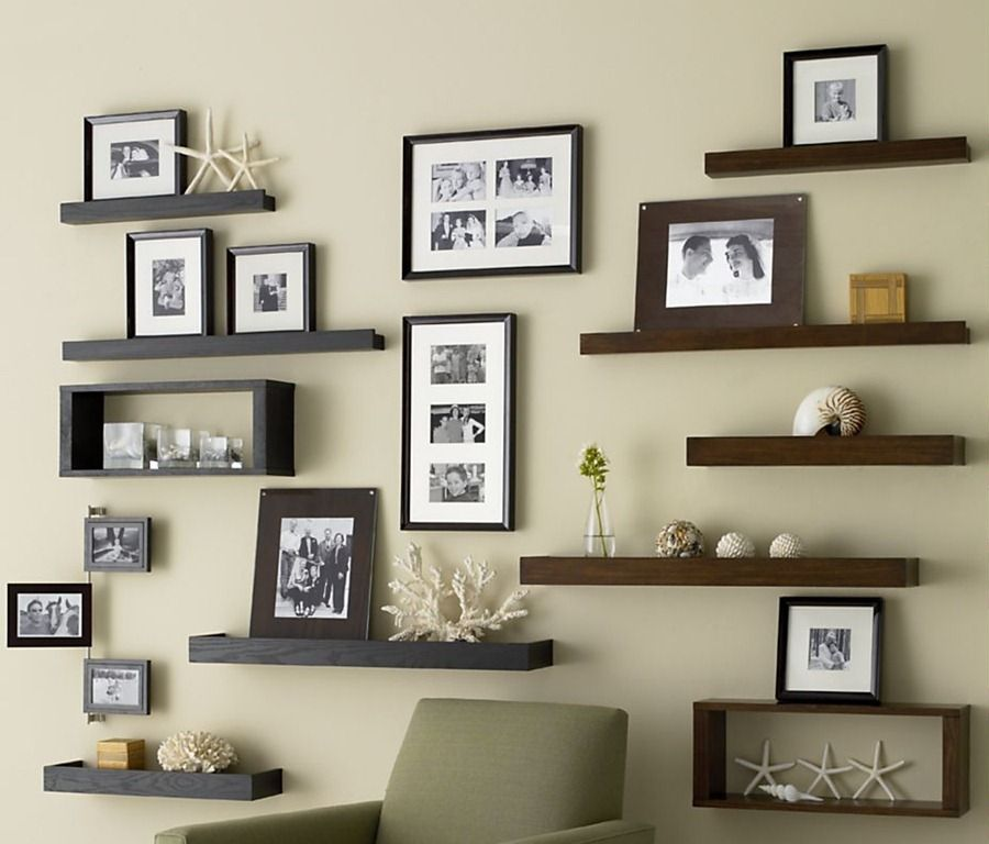 16 Ideas For Wall Decor Wall Spaces Photo Shelf And Living Rooms
