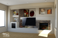 custom drywall entertainment centers | 3D design rendering ...