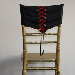 Diy Wedding Chair Covers Pinterest Design Replica Uk Black Corset With Red Ribbon Lace Cover Our