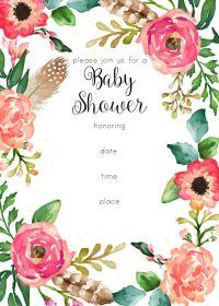 free printable floral shower invitation | Baby Shower ...