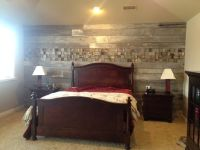 Wood Plank Wall Bedroom Here is an accent wall in a   Home ...